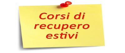 CALENDARIO CORSI ESTIVI DI RECUPERO A.S. 2018-2019