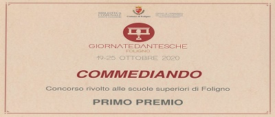 """L'Ite Scarpellini è la scuola vincitrice del primo premio del concorso """"Commediando"""" nell'ambito delle Giornate Dantesche 2019/20"""
