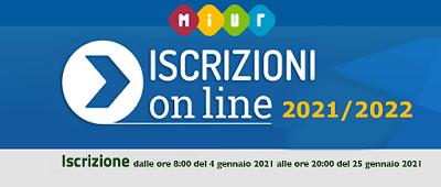 ISCRIZIONI ONLINE CLASSI PRIME A.S. 2021-2022